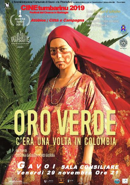 Locandina ORO VERDE C'ERA UNA VOLTA IN COLOMBIA FaceBook2